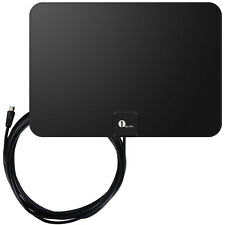 1byone Indoor Digital Flat HDTV TV Antenna 1080P High Gain Low Noise 35 Miles