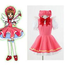 NEW! Cardcaptor Sakura kinomoto sakura cosplay fight costume Magical pink dress