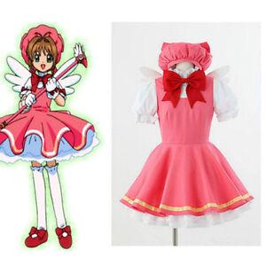Cardcaptor Sakura Sakura Kinomoto Cosplay Fight Costume Magical Dress