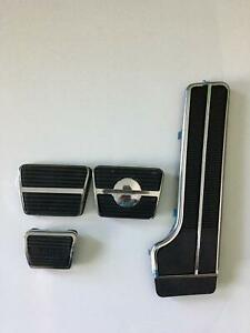 64 65 66 67 Chevelle & El Camino Pedal Pad Kit Manual with Disc & Stainless Trim