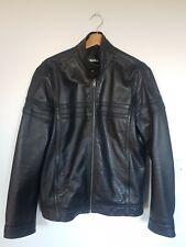 Mens Leather Jacket Black Size M (chest 97-104cm)