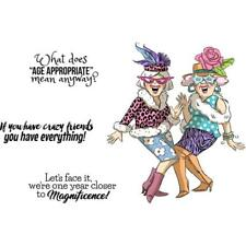 Art Impressions GIRLFRIENDS CRAZY FRIENDS SET 4989 Cling Mount Rubber Stamps