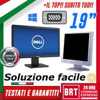 """PC MONITOR SCHERMO LCD 19"""" POLLICI (DELL,HP,LG) VGA DVI DISPLAY DESKTOP BUONO!18"""