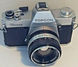 Topcon Unirex EE 35mm SLR Camera, UV Topcor 53mm f/2 Lens
