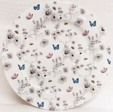 "Secret Garden Plates Set of 6 Fine Bone China 10.5"" 27 cm Plated Decorated UK"