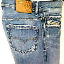 DIESEL QURATT Relaxed Straight Leg Jeans Distressed 008BK ITALY Men's 34/30 EUC!