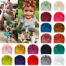 Caps Cotton Bowknot Baby Turban Hat Infant Beanies Head Wraps Knot Headband