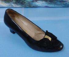 Salvatore Ferragamo Black High Heel Pumps Shoes Career Sz 5B