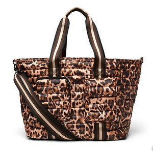 THINK ROYLN Wingman Travel Weekender Bag Elevated Pockets Urban Leopard NWT