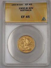 1900-M Australia One Sovereign Gold Coin ANACS EF-45