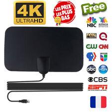 Antenne TNT intérieure numérique 4K 25DB à Gain Élevé ULTRAS HD TV Plug 50 Miles