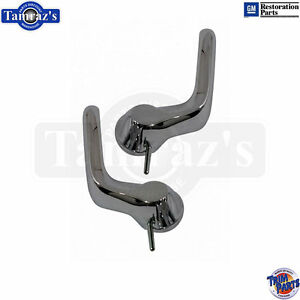 66-67 for GM A-Body - Vent Wing Window Chrome Release Lever Lock Handle Set