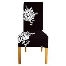 Printed Flowers for Long Back Size Chair Cover Checked Patterns Seats Slipcovers