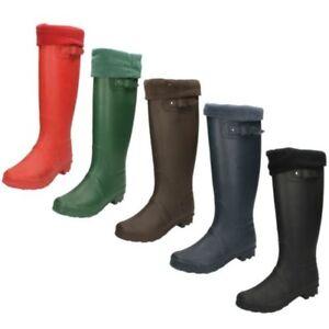 Ladies Spot On Fleece Lined Wellington Boots