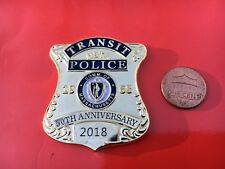 MBTA Transit Police Mass. challenge coin 50th Anniversary Railroad 1968 to 2018