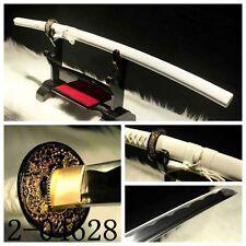 Pure White High Quality Japanese Samurai Sword Carbon Steel KATANA Sharp Blade