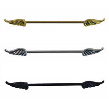 ARROW, SCREW & ANGEL WINGS Industrial Scaffold Ear Piercing Bar Barbell