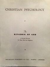Christian Psychology Publishing Kingdom of God  Booklet 1950's