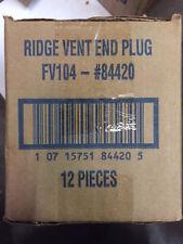 """(Box of 12) AIR VENT 84420 RIDGE VENT END PLUG PVC FOR 10"""" ALUMINUM VENT (NEW)"""