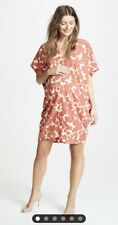 Hatch Maternity Women's THE SLOUCH DRESS  Red Floral Size O/S (onesize) NEW