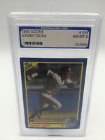 1990 Score Chicago White Sox Sammy Sosa Rookie Card #558 Pro 8