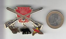 RARE PINS PIN'S .. ONG  LIONS CLUB CHASSE HUNTING ARME OURS BROCHE BIG 3D ~17