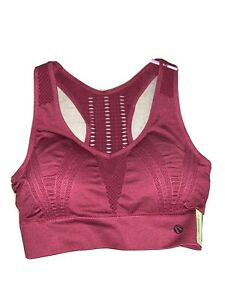 Marika Sport Performance Seamless Sports Bra BRAND NEW Size Small Dry-Wik Merlot