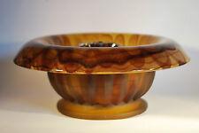Davidson Amber Cloud Glass Flower Bowl - Art Deco Glass Bowl     #2004