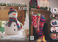 Christmas Knits Knitting Book King Cole Patterns Double Knitting