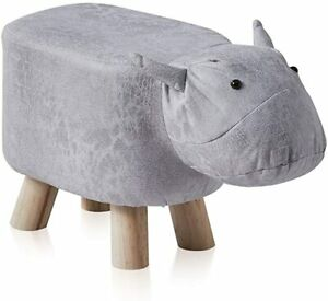 Kids Bull Animal Shape Footstools Upholstered Ottoman Pouffe Chair