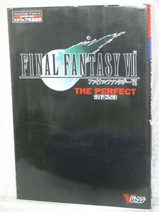 FINAL FANTASY VII 7 The Perfect Guide w/Poster Play Station Book 1997 VJ96