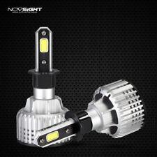 Pair H3 LED Headlight 10000LM 72W Single Beam Bulbs White 6500K Fog light Lamps