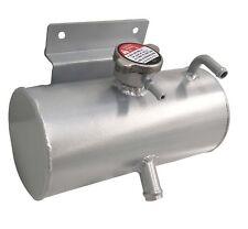 Universal Aluminium Car Kit Coolant Water Expansion Header Tank Bottle Silver
