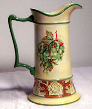 "Belle Foglie - S & F Studio Presents a Porcelain Water Pitcher 10.5"" High -RARE!"