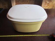 Tupperware 888-9 Microwave Steamer colander yellow brown tan removable basket