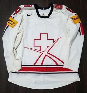 World Championship Team Switzerland NIKE Pro Stock Hockey Game Jersey
