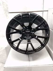 "4  Dodge SRT Hellcat 20"" Gloss Black Wheels OE 20x9 Charger Challenger 300"