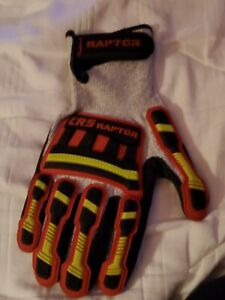 """Racing Gloves """"CRS Raptor""""Grey,Red,Neon Yellow"""