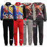 Boys Star Wars Marvel Spiderman Tracksuit Sweatshirt Bottoms Kylo Ren Fleece Top