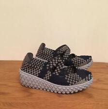 Rock Spring Mary Jane Weave Navy Grey Silver Shoes Size 5 / 38 Ladies Wedge Heel