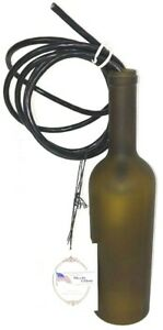 "Meyda Tiffany Lightning 31171 Tuscan Vineyard Frosted Green Wine Bottle Lamp 3"""