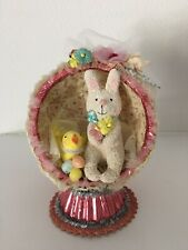 Vintage Midwest Cannon Falls Seasons Easter Egg Diorama with Bunny and Chick
