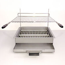 Heavy Duty Compact Steel Silver Charcoal BBQ Grill Smoker with Waste Tray