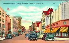 C44-0769, NORTHAMPTON STREET, CENTER SQ., EASTON, PA. POSTCARD.