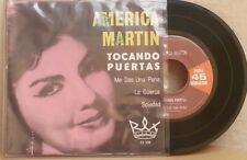 """AMERICA MARTIN -TOCANDO PUERTAS- MEXICAN 7"""" EP PS RANCHERAS"""