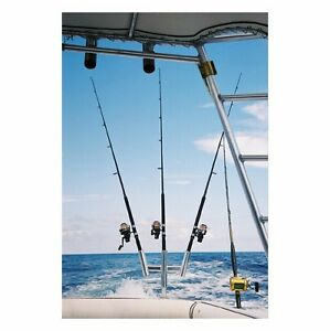 Tigress 88156 Triple Fishing Rod Holder-Curved Butt Kite Trident-Free Ship