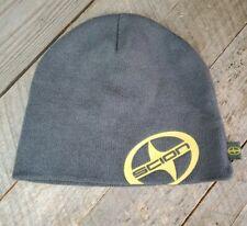 Toyota Scion Beanie Gray Yellow Large Logo Cap Hat