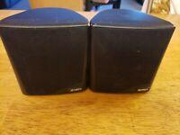 2 Jensen (099-20756) Complete Surround/ Satellite Wired Speakers
