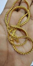"9ct 9K Yellow ""Gold Filled"" Men Women Snake Necklace Chain 18 inches ""Gift"