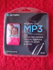 Ematic Esport Clip 8GB With Video Recorder Digital Camera Video Player & More